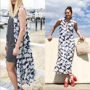 CAbi Maxi Button Down Shirt Dress Style 5382